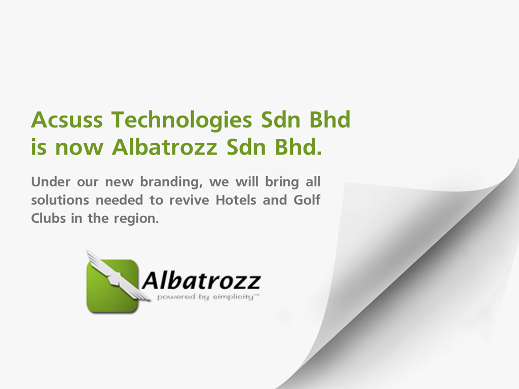 Acsuss Technology Sdn Bhd is now Albatrozz Sdn Bhd